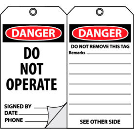 OLPT20 Self-Laminating Lockout Tags - Do Not Operate