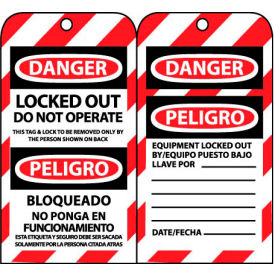 SPLOTAG16 Bilingual Lockout Tags - Locked Out Do Not Operate