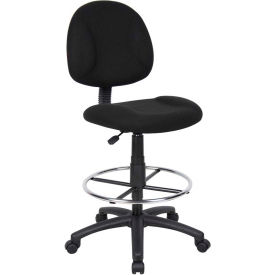O-I1615-F64 Drafting Stool - Fabric - Black