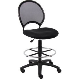 B16215 Boss Mesh Drafting Stool - Fabric - Black