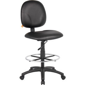 O-I1690-CS Drafting Stool with Footring - Vinyl - Black