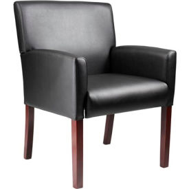 O-I629M-CS Reception Guest Chair - Vinyl - Black