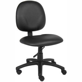 B9090-CS Boss Task Chair - Vinyl - Mid Back - Black