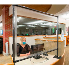 anchor porta-shield desktop vinyl divider, 4w x 4h - clear Anchor Porta-Shield Desktop Vinyl Divider, 4W x 4H - Clear
