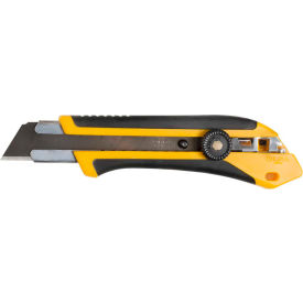 1071858 OLFA; 1071858 Fiberglass Rubber Grip Ratchet-Lock Utility Knife - Black/Yellow
