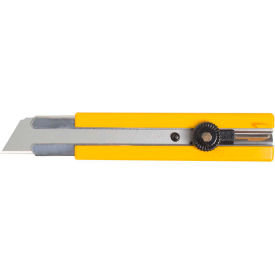 5006 OLFA; 5006 Rubber Inset Grip Ratchet-Lock Utility Knife - Yellow