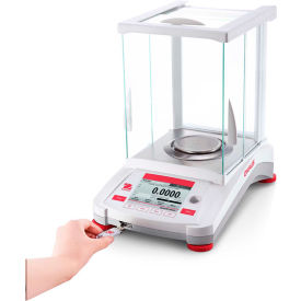 "Ohaus® AX324 Analytical Balance with Auto Calibration 320g x 0.0001g 3-1/2"" Diameter"