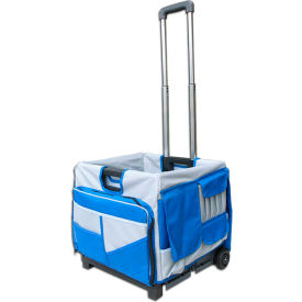 olympia tools pack-n-roll® folding cart 85-506 - 48 pockets - 50 lb. capacity - blue Olympia Tools Pack-N-Roll® Folding Cart 85-506 - 48 Pockets - 50 Lb. Capacity - Blue