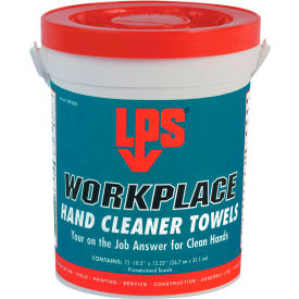 lps® workplace hand cleaner towels, 72 towels/bucket - 09200 LPS® WorkPlace Hand Cleaner Towels, 72 Towels/Bucket - 09200