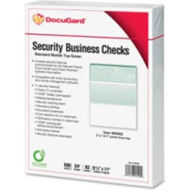 "docugard security business checks with marble top 8-1/2"" x 11"" green 500 sheets/pack Docugard Security Business Checks with Marble Top 8-1/2"" x 11"" Green 500 Sheets/Pack"