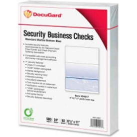 "docugard security business checks with marble top 8-1/2"" x 11"" blue 500 sheets/pack Docugard Security Business Checks with Marble Top 8-1/2"" x 11"" Blue 500 Sheets/Pack"