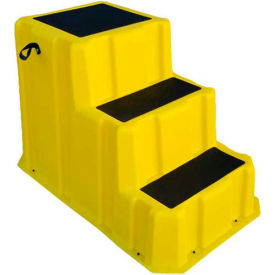 "NST-3 YEL 3 Step Nestable Plastic Step Stand - Yellow 26""W x 43""D x 28""H - NST-3 YEL"