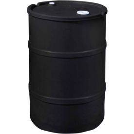 us roto molding 15 gallon plastic drum ss-ch-15 - closed head with bung cover - lever lock - black US Roto Molding 15 Gallon Plastic Drum SS-CH-15 - Closed Head with Bung Cover - Lever Lock - Black