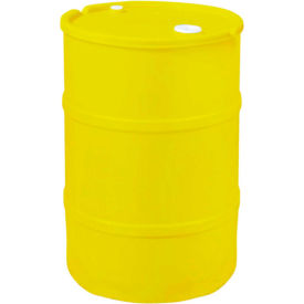 us roto molding 15 gallon plastic drum ss-ch-15 - closed head with bung cover - lever lock - yellow US Roto Molding 15 Gallon Plastic Drum SS-CH-15 - Closed Head with Bung Cover - Lever Lock - Yellow