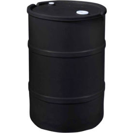 us roto molding 20 gallon plastic drum ss-ch-20 - closed head with bung cover - lever lock - black US Roto Molding 20 Gallon Plastic Drum SS-CH-20 - Closed Head with Bung Cover - Lever Lock - Black