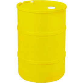 us roto molding 20 gallon plastic drum ss-ch-20 - closed head with bung cover - lever lock - yellow US Roto Molding 20 Gallon Plastic Drum SS-CH-20 - Closed Head with Bung Cover - Lever Lock - Yellow