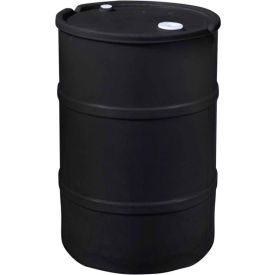 us roto molding 35 gallon plastic drum ss-ch-35 - closed head with bung cover - lever lock - black US Roto Molding 35 Gallon Plastic Drum SS-CH-35 - Closed Head with Bung Cover - Lever Lock - Black