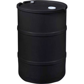 us roto molding 55 gallon plastic drum ss-ch-55 - closed head with bung cover - lever lock - black US Roto Molding 55 Gallon Plastic Drum SS-CH-55 - Closed Head with Bung Cover - Lever Lock - Black