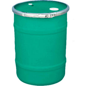 us roto molding 15 gallon plastic drum ss-oh-15 - open head with bung cover - lever lock - green US Roto Molding 15 Gallon Plastic Drum SS-OH-15 - Open Head with Bung Cover - Lever Lock - Green