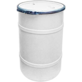 us roto molding 20 gallon plastic drum ss-oh-20 - open head with bung cover - bolt ring - natural US Roto Molding 20 Gallon Plastic Drum SS-OH-20 - Open Head with Bung Cover - Bolt Ring - Natural