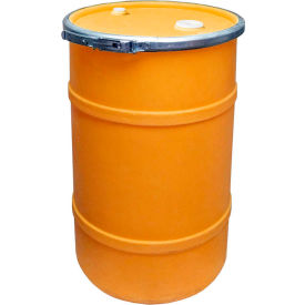 us roto molding 20 gallon plastic drum ss-oh-20 - open head with bung cover - bolt ring - orange US Roto Molding 20 Gallon Plastic Drum SS-OH-20 - Open Head with Bung Cover - Bolt Ring - Orange
