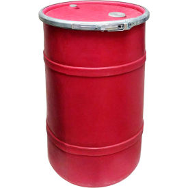 us roto molding 20 gallon plastic drum ss-oh-20 - open head with bung cover - lever lock - red US Roto Molding 20 Gallon Plastic Drum SS-OH-20 - Open Head with Bung Cover - Lever Lock - Red
