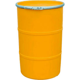us roto molding 30 gallon plastic drum ss-oh-30 - open head with plain lid - bolt ring - orange US Roto Molding 30 Gallon Plastic Drum SS-OH-30 - Open Head with Plain Lid - Bolt Ring - Orange
