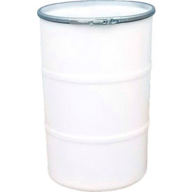 us roto molding 55 gallon plastic drum ss-oh-55 - open head with plain lid - lever lock - natural US Roto Molding 55 Gallon Plastic Drum SS-OH-55 - Open Head with Plain Lid - Lever Lock - Natural