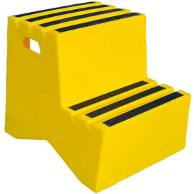 "ST-2 YEL 2 Step Plastic Step Stand - Yellow 21""W x 24-1/2""D x 19-1/2""H - ST-2 YEL"