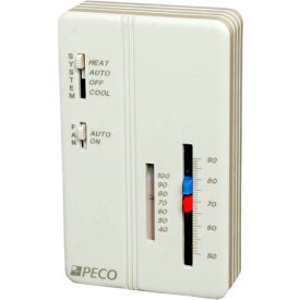 SP155-011 PECO Trane Compatible Zone Sensor SP155-011 Heat-Off-Cool Switch, On-Auto Fan Control, Dual Temp Adj