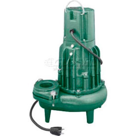 "Zoeller Waste-Mate E284 Non-Automatic Submersible Sewage Pump 284-0004, 2"" Discharge, 1 HP"