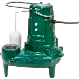 Zoeller Waste-Mate M267 Submersible Sewage Pump, Auto Eject with Built-in Float Switch 1/2 HP