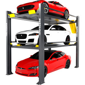 bendpak® tri-level parking lift 9,000 and 7,000 lb capacity BendPak® Tri-Level Parking Lift 9,000 and 7,000 lb Capacity
