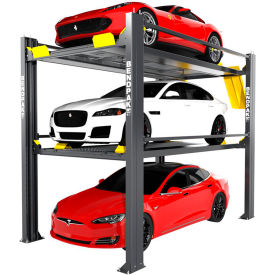bendpak® tri-level parking lift 9,000 and 7,000 lb capacity, extended, galvanized BendPak® Tri-Level Parking Lift 9,000 and 7,000 lb Capacity, Extended, Galvanized