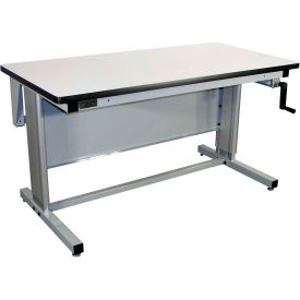 pro-line 60 x 30 el6030c-a31 ergoline hand crank height adjustable workbench esd laminate top Pro-Line 60 x 30 EL6030C-A31 Ergoline Hand Crank Height Adjustable Workbench ESD Laminate Top
