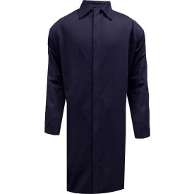 arcguard® flame resistant food processing lab coat, l, navy, c09ujlcfs ArcGuard® Flame Resistant Food Processing Lab Coat, L, Navy, C09UJLCFS