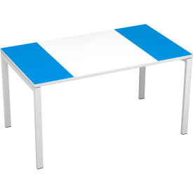 "paperflow easydesk 55"" training table - white and blue"