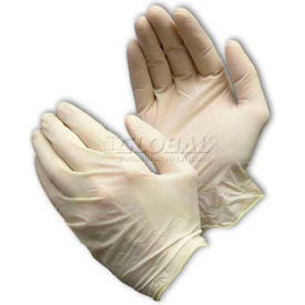 62-322/S PIP Ambi-Dex; 62-322 Industrial Grade Latex Gloves, Powdered, White, S, 100/Box
