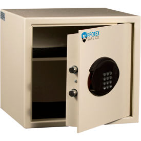 "Protex Hotel & Personal Laptop Safe With Electronic Lock BG-34 14-1/4"" x 13-1/4"" x 12-7/8"" Beige"