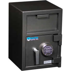"Protex Medium Front Loading Depository Safe With Electronic Lock FD-2014 14"" x 14"" x 20"" Gray"