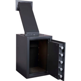 "Protex Through-the-Wall Depository Safe With Drop Chute & Electronic Lock FD-2014LS 14"" x 14"" x 20"""