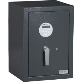 "Protex Medium Electronic Burglary Safe With Electronic Lock HD-53 14-7/8"" x 14-1/4"" x 20-7/8"" Gray"