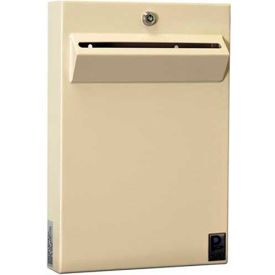 "LPD-161 Protex Low-Profile Wall Mount Depository Drop Box Tubular Lock LPD-161 - 11""Wx2-3/8""Dx16""H Beige"