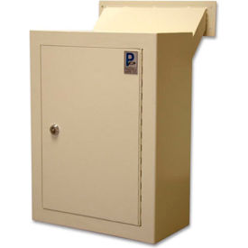 "MDL-170 Protex Wall Drop Box with Adjustable Chute & Keyed Lock MDL-170 12"" x 6"" x 16"" Beige"