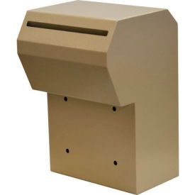 "protex through-the-door depository drop box with tubular key lock wsr-162 10"" x 9-3/8"" x 15"" beige Protex Through-The-Door Depository Drop Box With Tubular Key Lock WSR-162 10"" x 9-3/8"" x 15"" Beige"