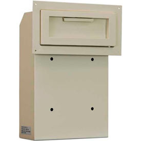 "WSS-159 Protex Through-The-Door Depository Drop Box WSS-159 - 10""W x 4-1/4""D x 15""H, Beige"