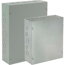 ASE6X6X4 Hoffman ASE6X6X4, Pull Box, Screw Cover /KoS, 6.00X6.00X4.00, Steel/Gray