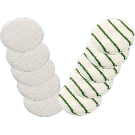 "boss cleaning equipment 21"" carpet bonnet, white/green, 6 per case Boss Cleaning Equipment 21"" Carpet Bonnet, White/Green, 6 Per Case"