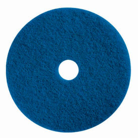 "boss cleaning equipment 22"" scrubbing pad, blue, 5 per case"