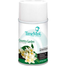 1042786 TimeMist; Premium Metered Air Care Refills, Country Garden - 6.6 oz. Can, 12 Cans/Case -1042786